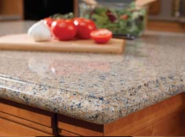 Blue Sahara Granite Countertop with Ogee Edge Profile